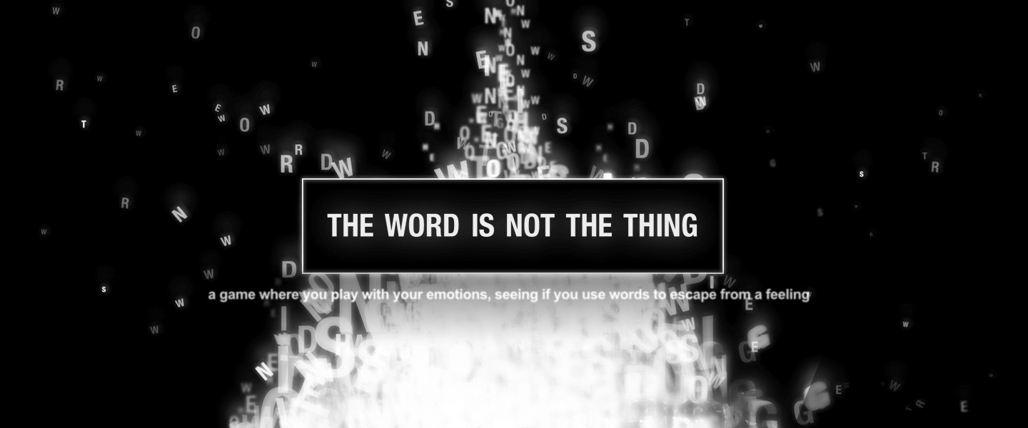 The Word Is Not The Thing